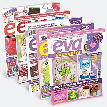 Pack Oferta 6 revistas de Goma Eva + 1 tela 50 * 50cm de regalo
