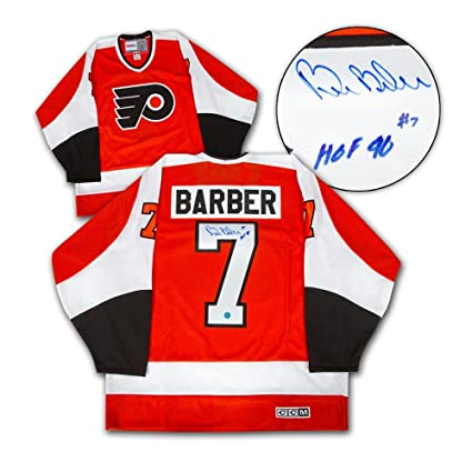 new arrival 81f76 b02cd Bill Barber Autographed Jersey - Flyers 74 Cup - Autographed ...