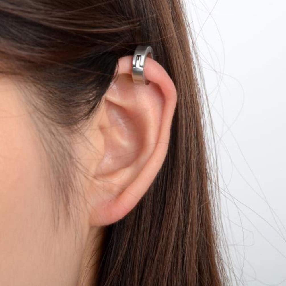 TOYANDONA 3 paires de clips doreille en acier inoxydable non-piercing boucles doreilles cerceau brassard pour hommes femmes