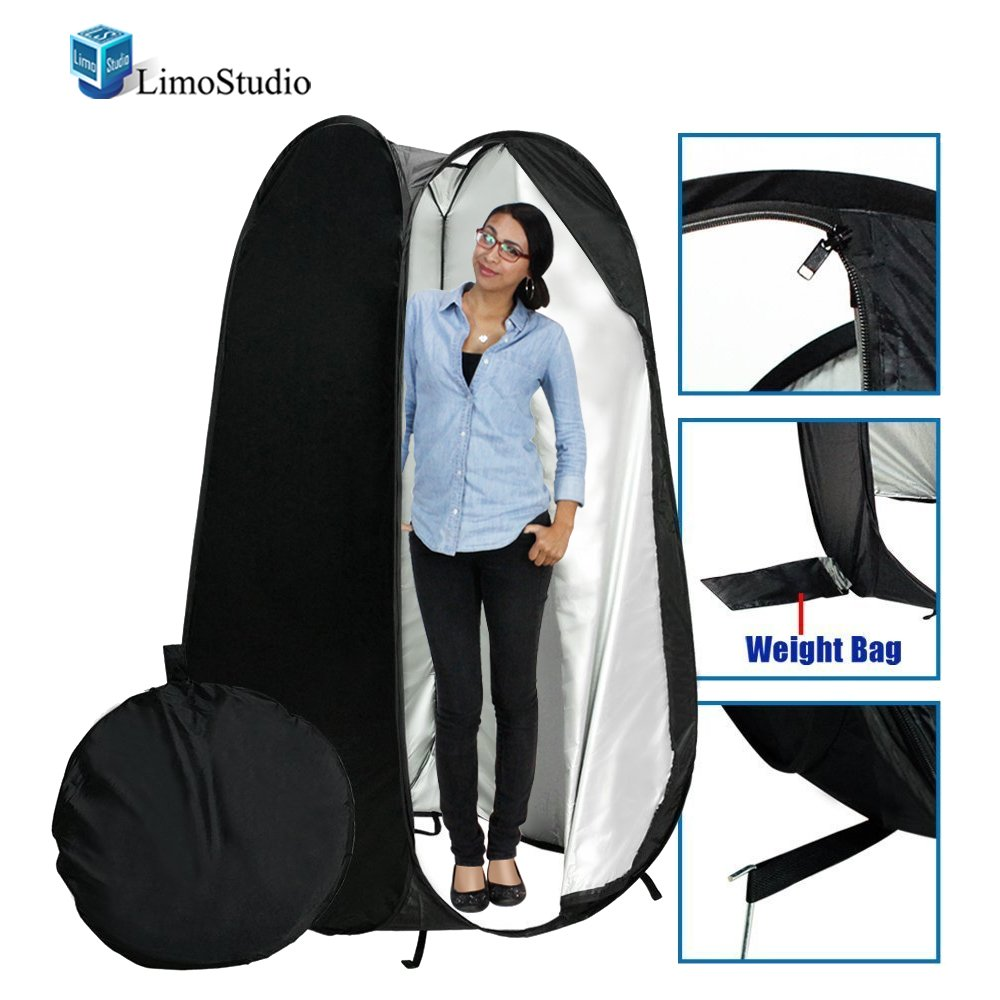 LimoStudio 6 ft. Portable Indoor Outdoor Camping Photo Studio Pop up Changing Tent Fitting Rom with Carrying Case, Foldable into Carry Bag, AGG348 by LimoStudio (Image #1)