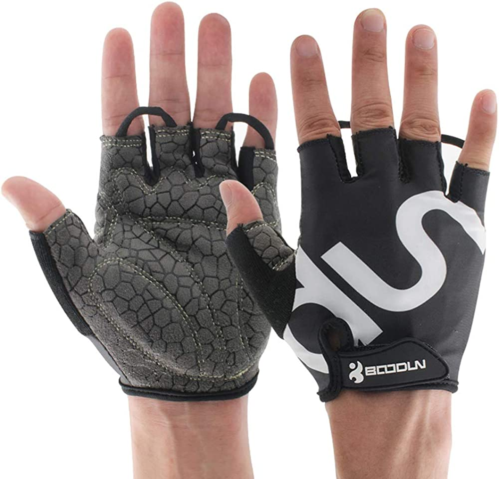 UPANBIKE Men Women Cycling Gloves with Shock-Absorbing Gel Pad Breathable Half Finger Mountain Bicycle Bike Road Racing Gloves