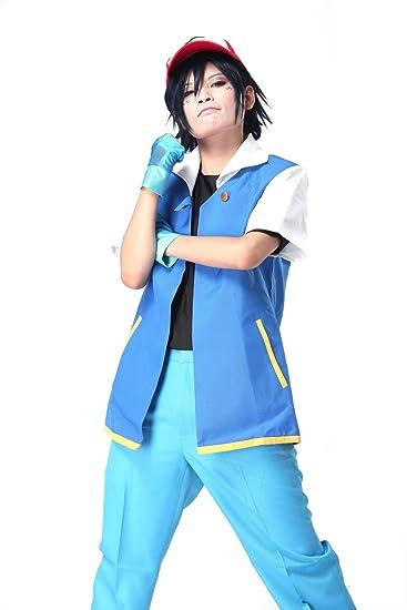 Amazon.com: Anime Pokemon Ash Ketchum Cosplay de disfraz y ...