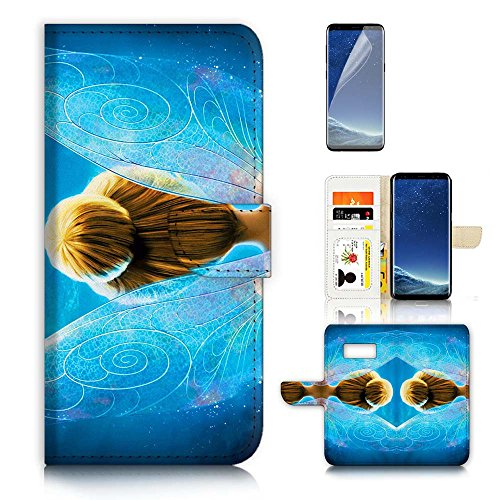 ( For Samsung S8 , Galaxy S8 ) Flip Wallet Case Cover & Screen Protector Bundle - A21062 (Tinkerbell Cell Phone Covers)