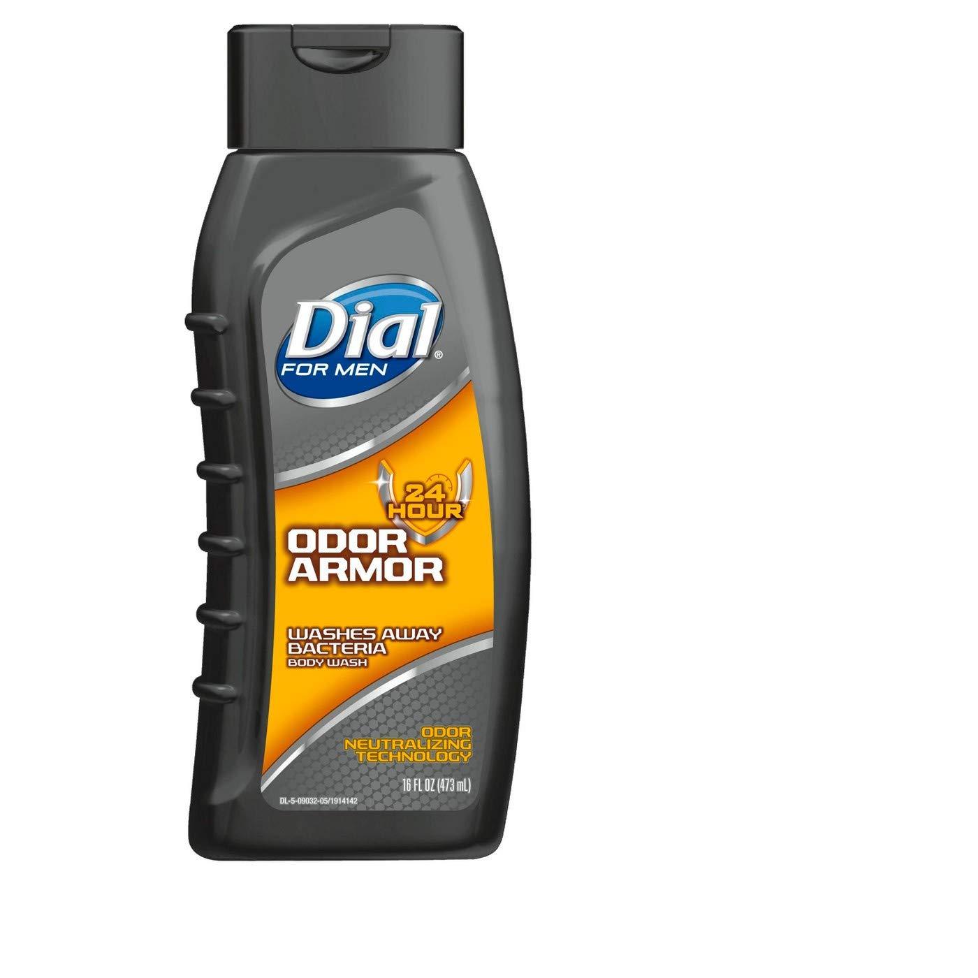 Dial For Men Antibacterial Body Wash, Odor Armor 16 oz