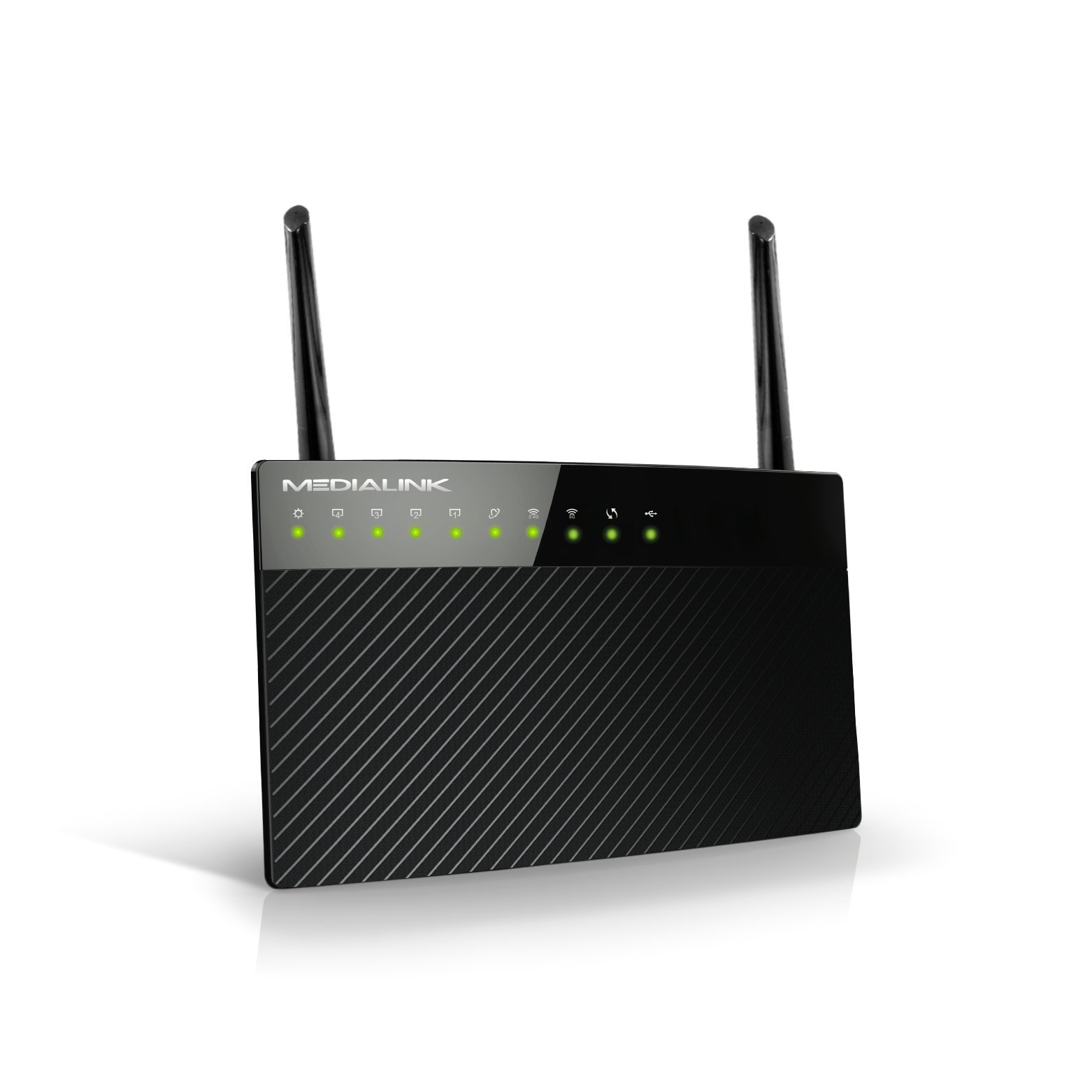 Medialink AC1200 Wireless Gigabit Router - Gigabit (1000 Mbps) Wired Speed & AC 1200 Mbps Combined Wireless Speed (Part# MLWR-AC1200R) by Mediabridge