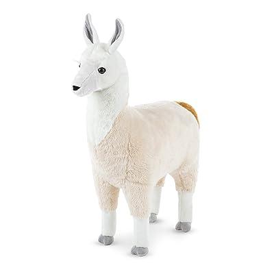 Melissa & Doug Standing Lifelike Plush Llama Stuffed Animal Plush, 31 x 30 x 9.5: Toys & Games