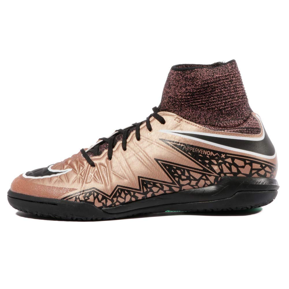 buy popular 31003 35c12 Amazon.com   Nike Youth Hypervenomx Proximo Indoor Soccer Shoes (Metallic  RED Bronze Black White) (4.5y)   Soccer