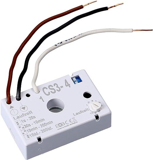 Interruptor temporizador para el relé de seguimiento CS3-4 ventilador de baño empotrado o autómata de escalera: Amazon.es: Bricolaje y herramientas