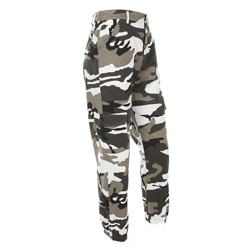 Mujer Hibote Pantalones De Camuflaje Girls Pantalon Militar Hip Hop Jogger Dance Pant Ropa Doorgo Id