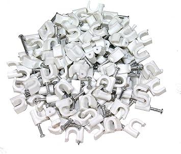 AERZETIX: 100 x Grapas para cable 5mm C1765