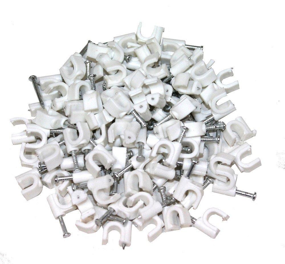 Aerzetix: 100x Attache-câ ble fils pontets 6mm fixation avec clou - C1757 3800946168898