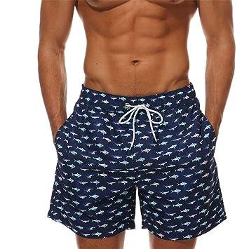 Hombres nadando boxer troncos Traje de baño para hombre Pantalones cortos de secado rápido Pantalones cortos de playa Tablas de surf ...