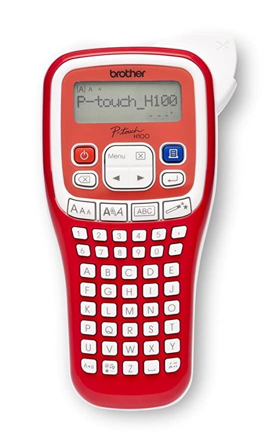 Brother PT-H100R - Impresora de etiquetas (Transferencia térmica, 180 x 180 DPI, 20 mm/s, 9 mm, 1,2 cm, LCD)