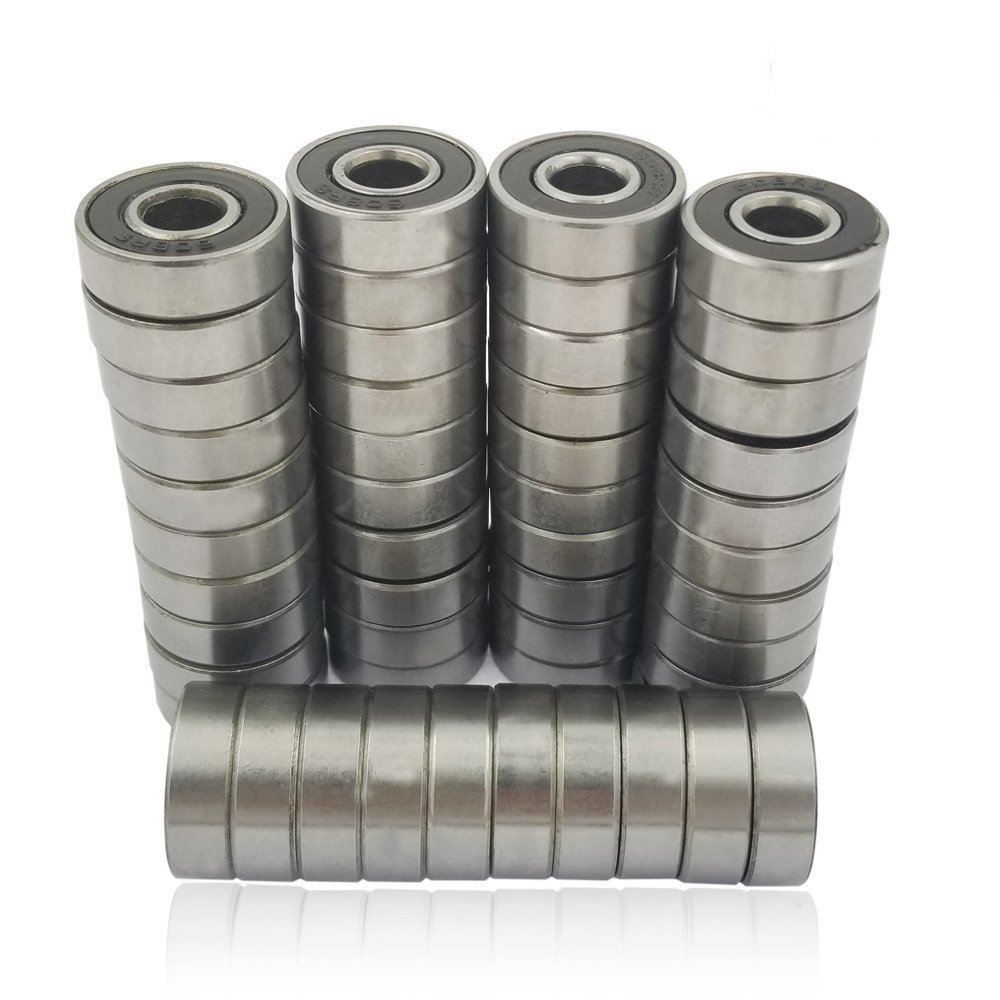 SINYUM 50 PCS 608-2RS Skateboard Bearing, 8x22x7, Sealed