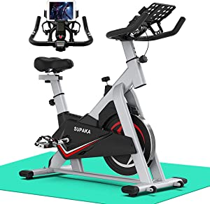 SUPAKA Spin Bike, Indoor Cycling Bike Stationary, Exercise Bike for Home Cardio Gym, 35 LBS Flywheel, Thickened Frame Upgraded Version