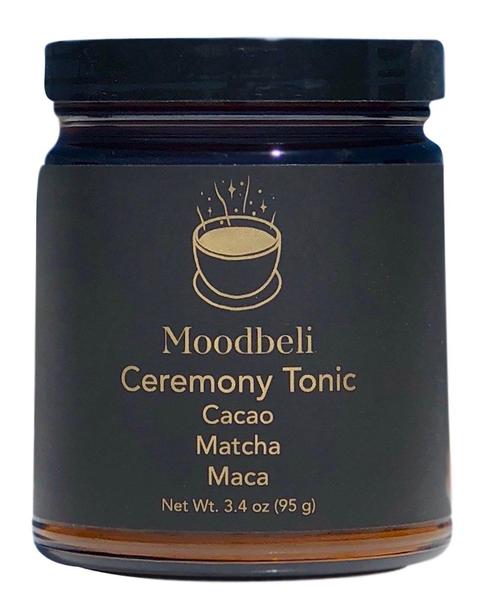 Moodbeli - Organic Ceremony Tonic - Raw Cacao, Matcha Green Tea + Maca (3.35 oz / 95 g)