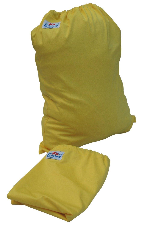 Farben Gr/ün 3er Set Gelb oder Rot Blau Farbige Stoffwindel Aufbewahrungstaschen