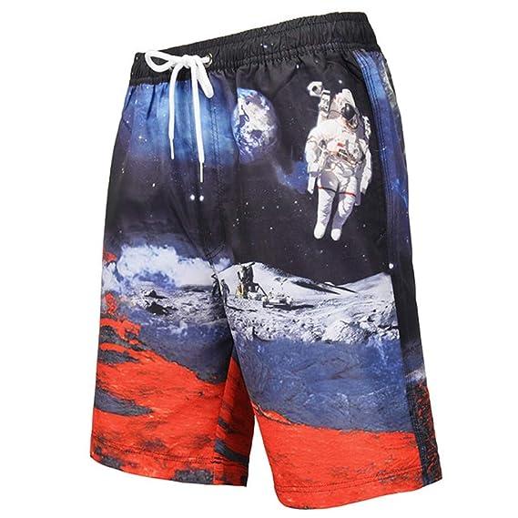 Geilisungren Bañador Hombre Pantalones de Playa con Forro ...