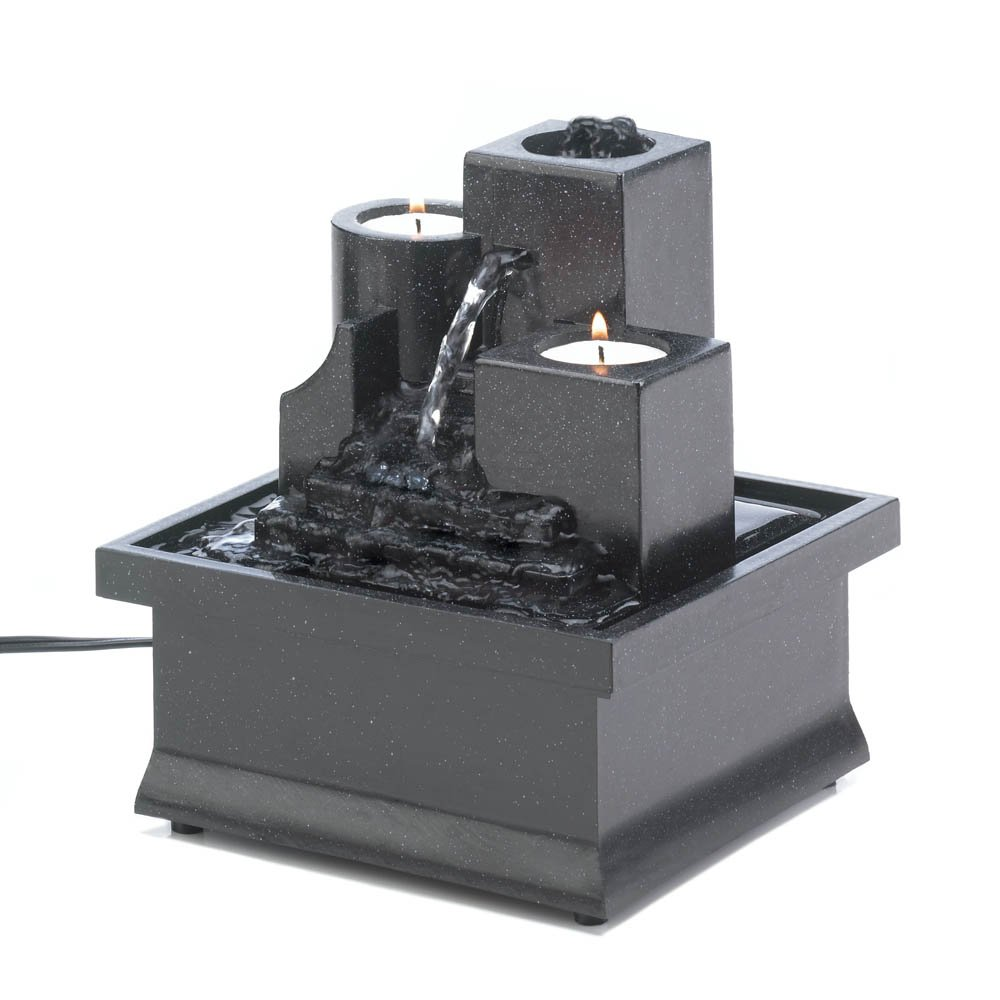 Tabletop Water Fountain, Tier Table Indoor Wall Fountain, Polyresin Cascading Fountains 10016892