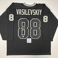 $124 » Autographed/Signed Andrei Vasilevskiy Tampa Bay Black Hockey Jersey PSA/DNA COA