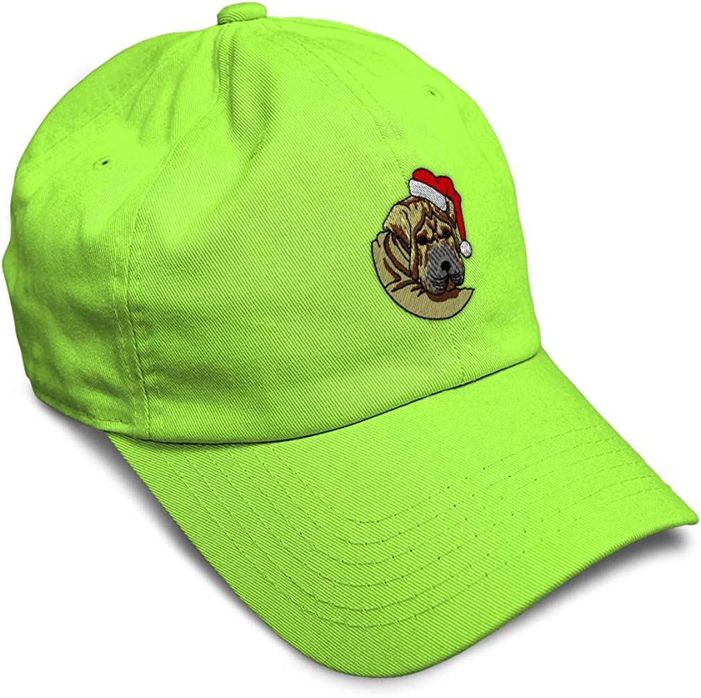 Custom Soft Baseball Cap Christmas Puppy Embroidery Dad Hats for Men /& Women