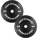 Rep Bumper Plates for CrossFit Workouts and Weightlifting 1-3 Year Warranty, Low Odor