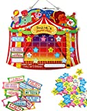 "Chore Reward Chart For Kids - Easy Effective Way to Motivate Good Behavior and Teach Responsibility. Magnetic Star Chart with Hanging String and Magnetic Backing 12"" x 14.5"" By EduKid Toys"
