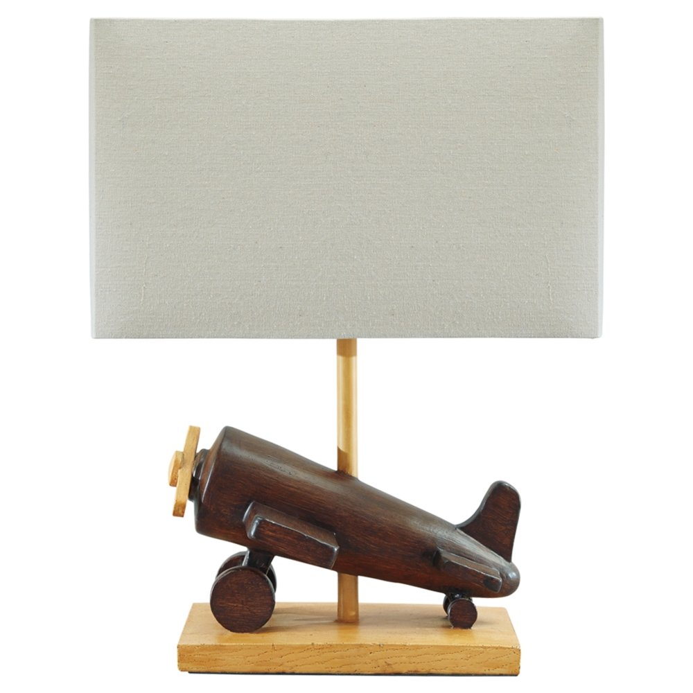 Ashley Furniture Signature Design - Nicolas Wooden Table Lamp - Children's Lamp - Vintage - Brown