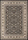 "Cheap Momeni Rugs ROYALRY-02CHR237A Royal Collection Power Loomed Traditional Area Rug, 2'3″ x 7'10"", Charcoal"
