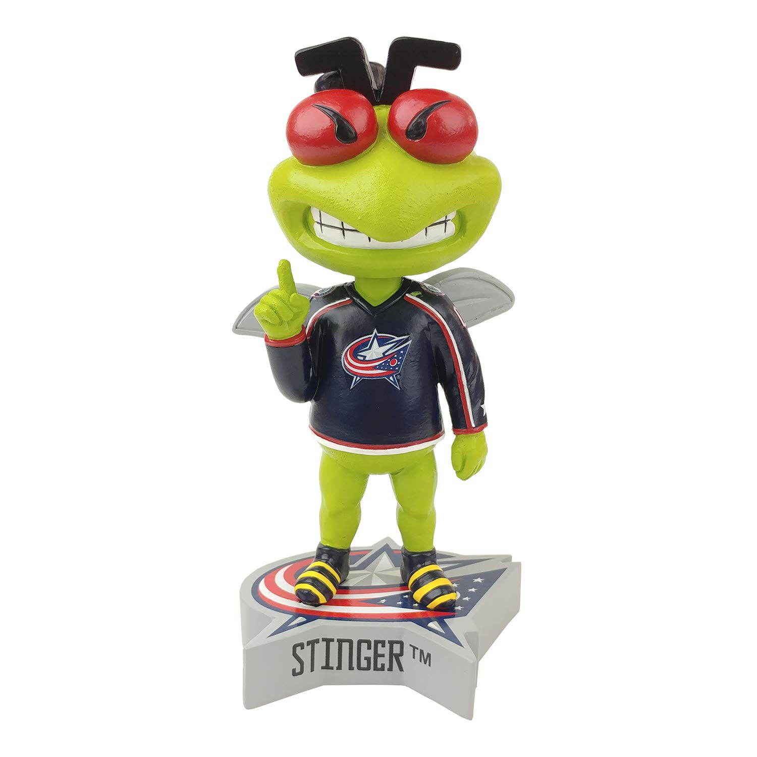 Limited Edition /& Numbered Columbus Blue Jackets Stinger Mascot Bobblehead