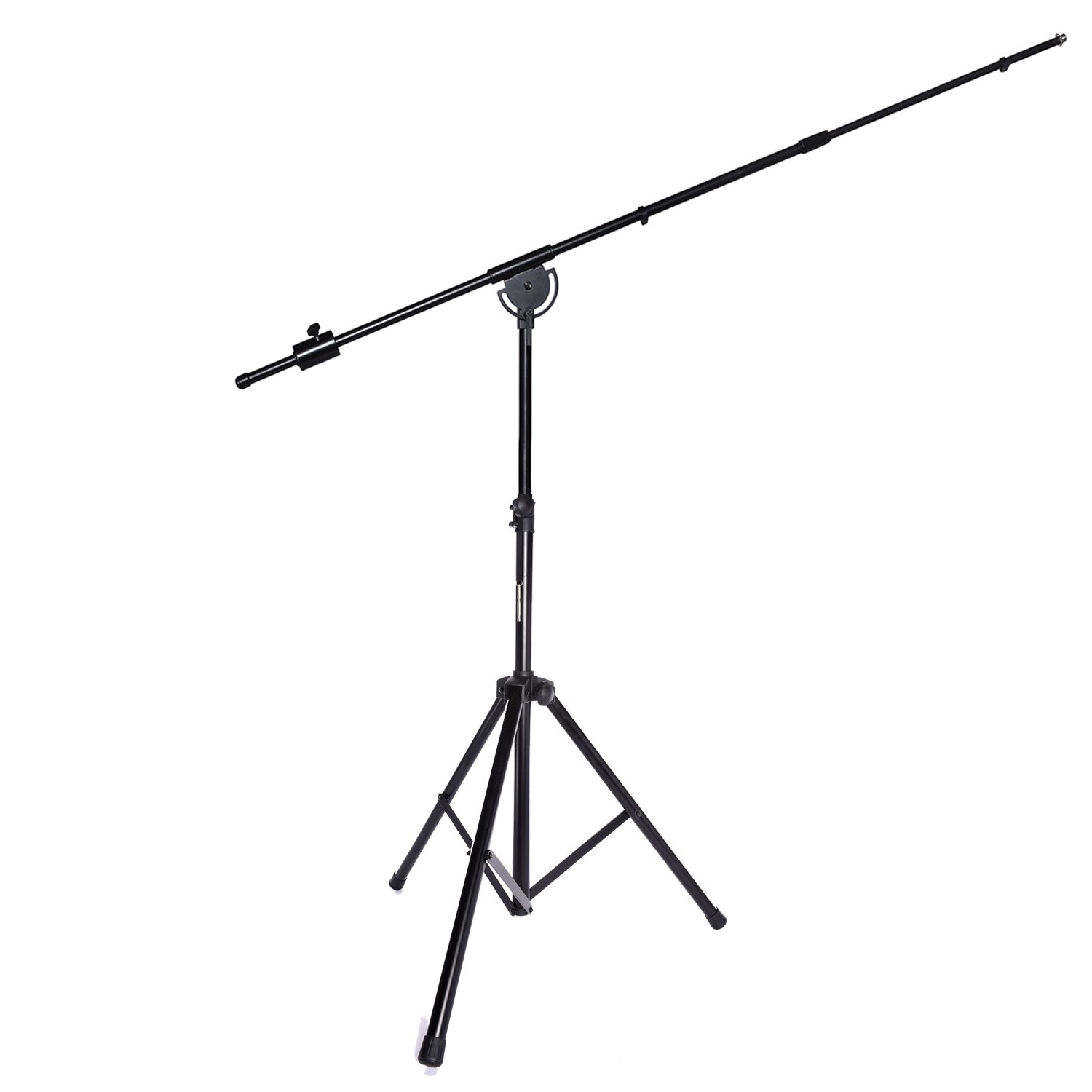 LyxPro SMT-1 Professional Microphone Stand Heavy Duty 93'' Studio Overhead Boom Stand 76'' Extra Long Telescoping Arm Mount, Foldable Tripod Legs & Adjustable Counterweight by LyxPro