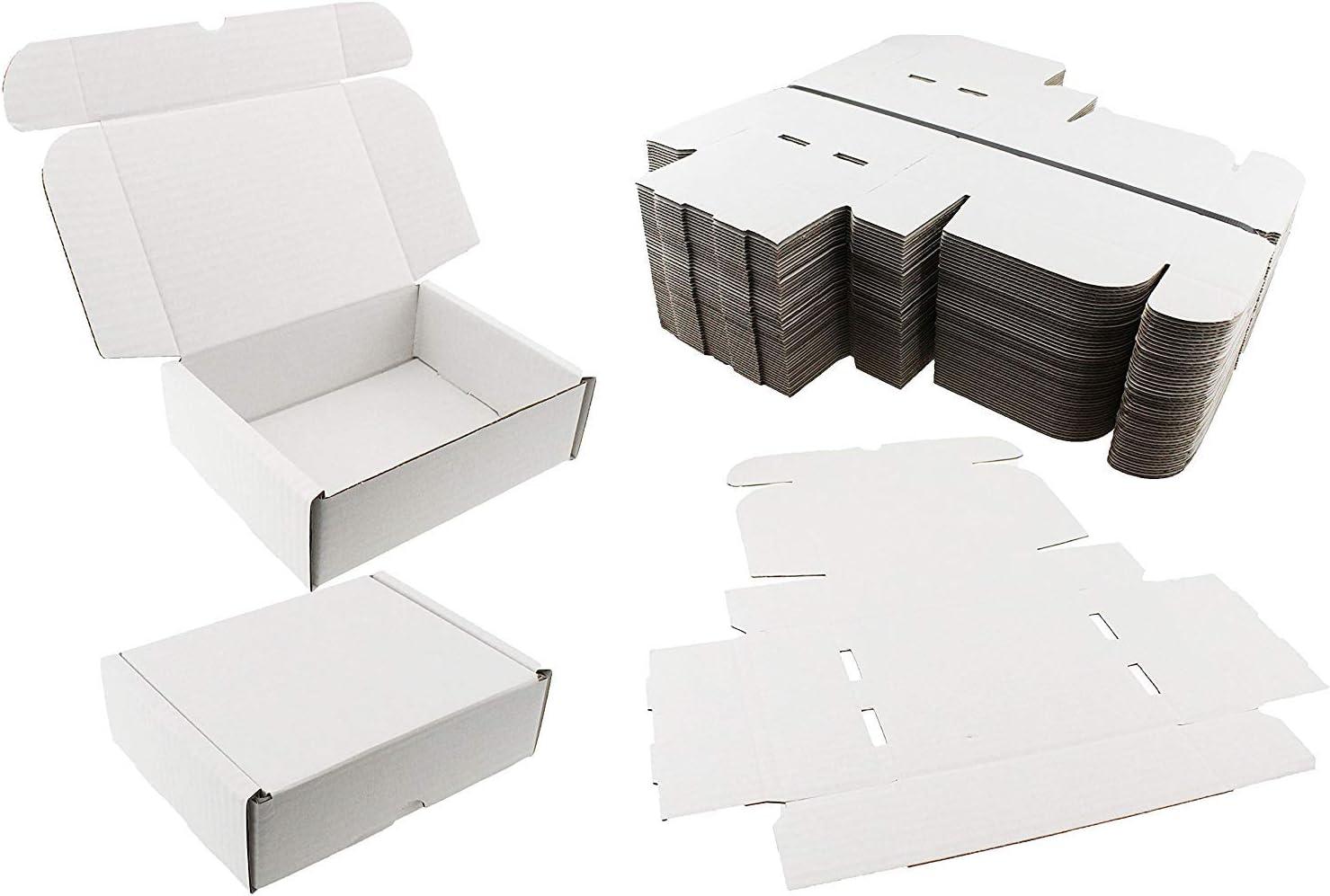 20 cajas de envío blancas para regalo, ideales para obsequios de boda, 20x15x6cm