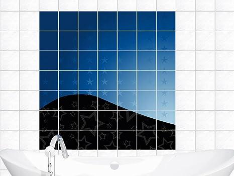 Adesivi per piastrelle immagini per bagno onda stella stelle