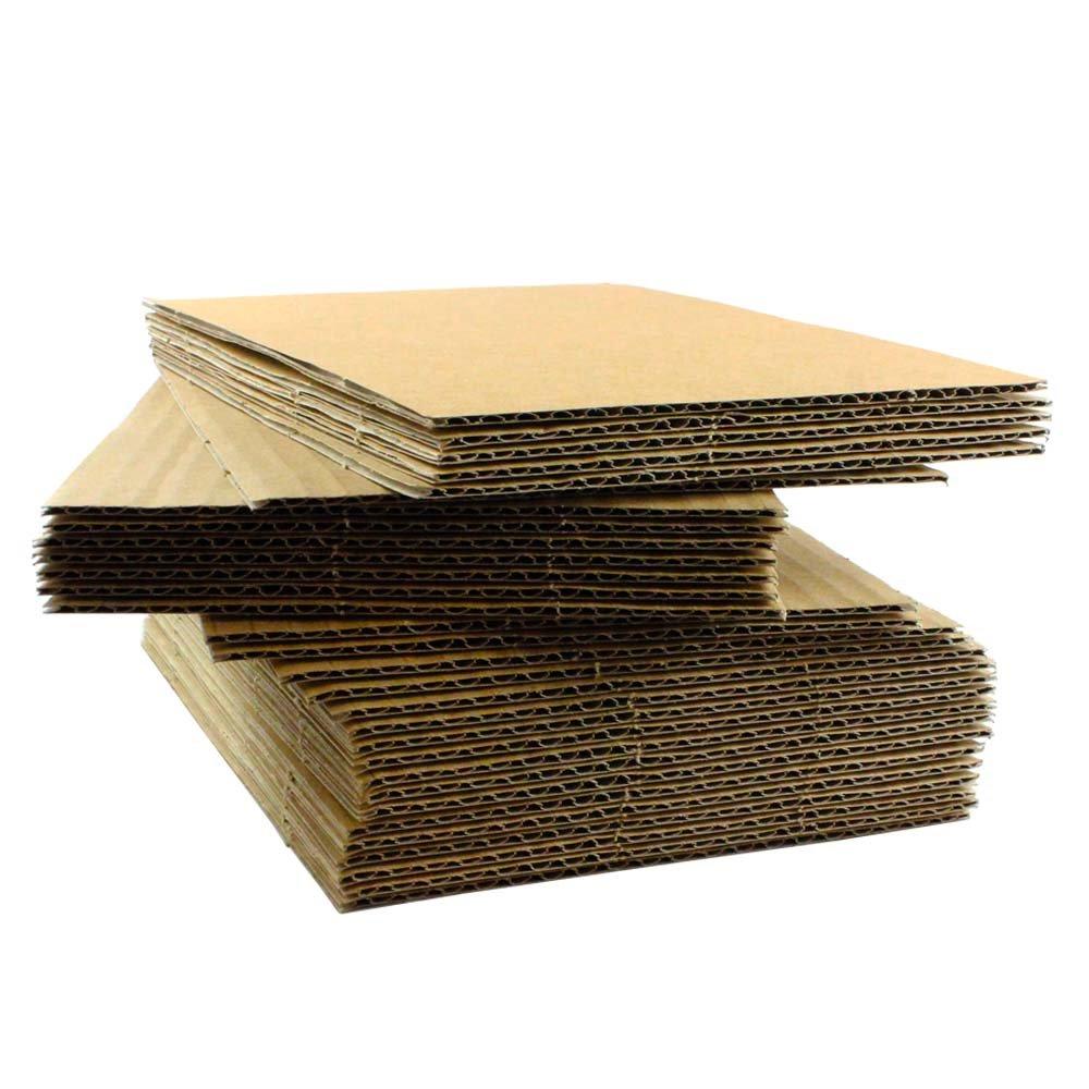 50 EcoSwift 5x7 Corrugated Cardboard Filler Inserts Sheet Pads 1/8'' Thick 5 x 7 by EcoSwift