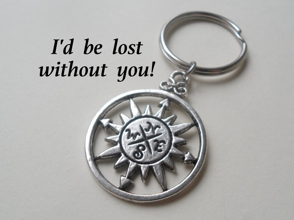 Amazon.com: Sol Brújula llavero – I d Be Lost without you ...