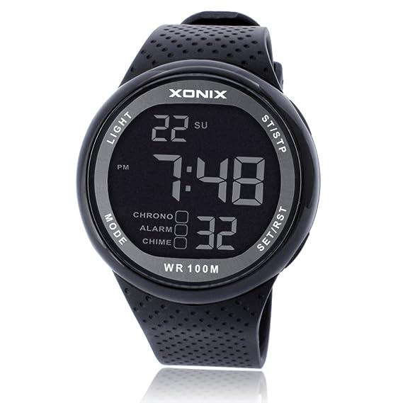 Relojes multifunción/Gran Reloj Digital/Resistente al Agua Reloj Luminoso-A: Amazon.es: Relojes