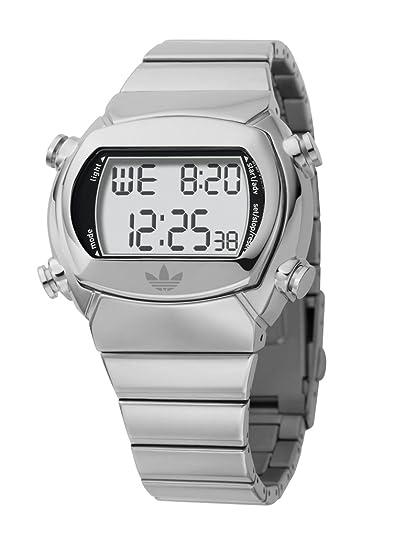 adidas adh1842 Unisex Digital LCD reloj de pulsera de acero inoxidable: Amazon.es: Relojes