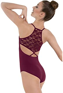 787f10198 Amazon.com  Balera Leotard Girls One Piece For Dance High Neck With ...