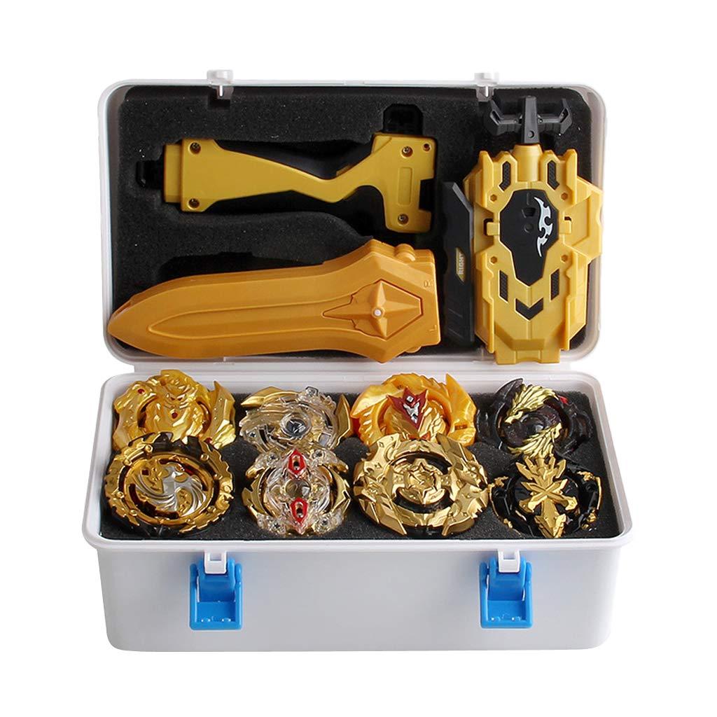 12Pcs Spinning Tops Burst Grip Launcher Arena Battle Toys Luxury Sets with Storage Case - B129 B34 B127 B00 B131 B59 B128 B48