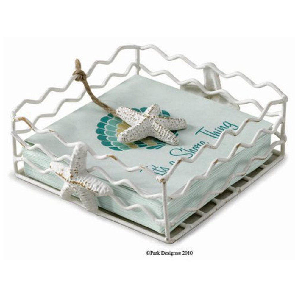 Starfish Beverage cocktail Napkin Holder with weighted arm by Park Designs