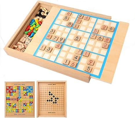 Madera Sudoku Rompecabezas De Madera Juego De Mesa con Cajón Educativo Niños Bloques De Matemáticas Navidad Aprendizaje Juguete: Amazon.es: Deportes y aire libre