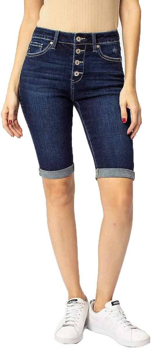 Kan Can Women's High Rise Bermuda Shorts