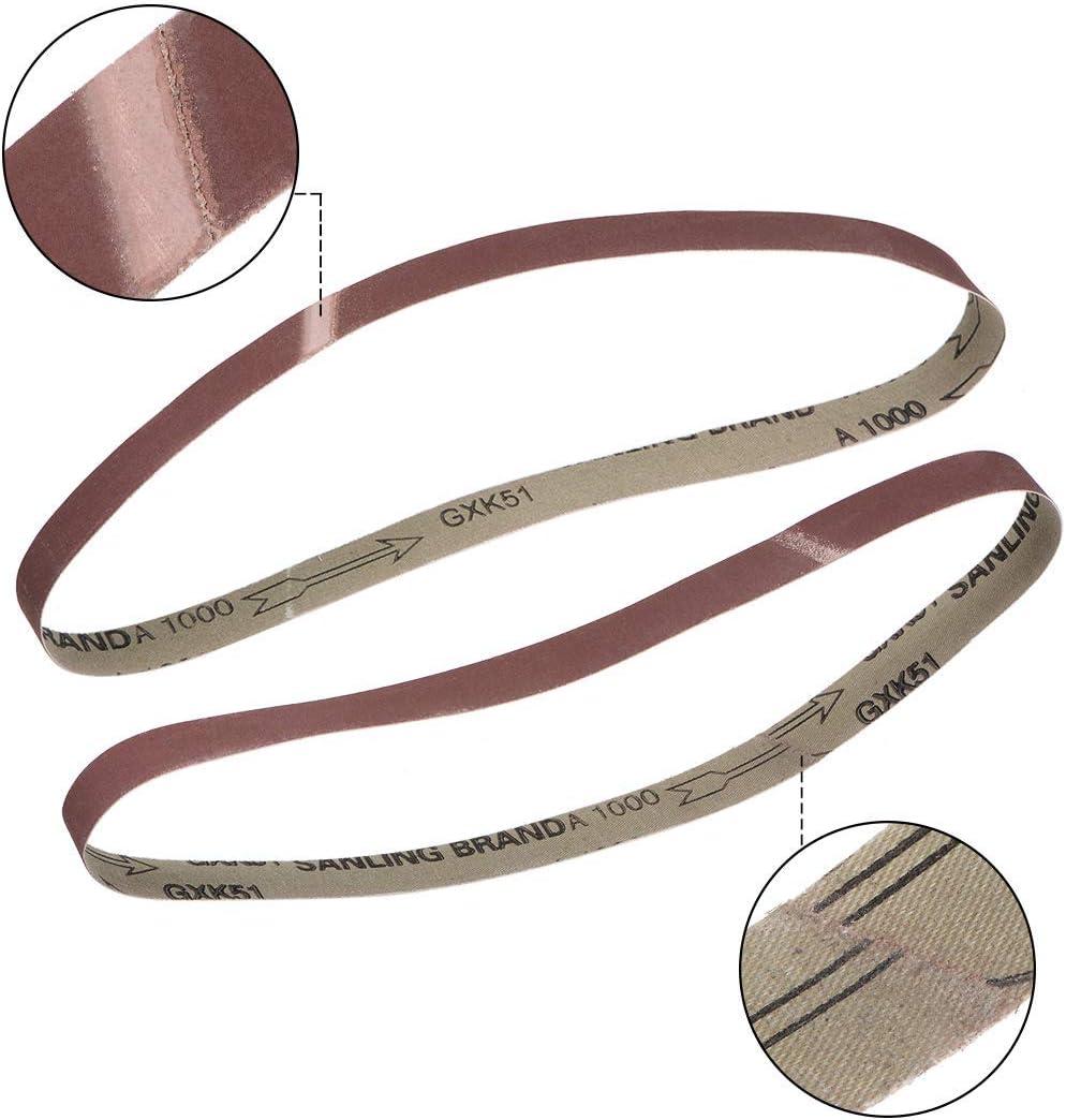 Banda de lijado de 1 pulgada x 30 pulgadas 1000 granos de arena para lijadora de banda 10 unidades