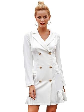 Annybar - Chaqueta de Traje - para Mujer Blanco 40: Amazon ...
