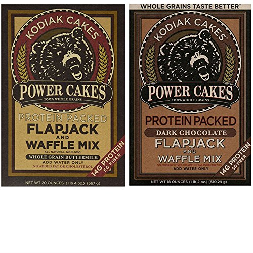 Drink Mix Cake (Kodiak Pancakes Mix Variety Pack. Convenient One-Stop Shopping For 2 Tasty Flapjack Power Cakes Pancakes and Waffle Mixes. Easy to Source These Popular Products With 1 Click. Breakfast Heaven!)