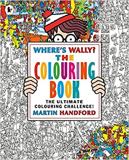 photograph about Where's Waldo Pictures Printable referred to as Wheres Wally? The Colouring E book: MARTIN HANDFORD
