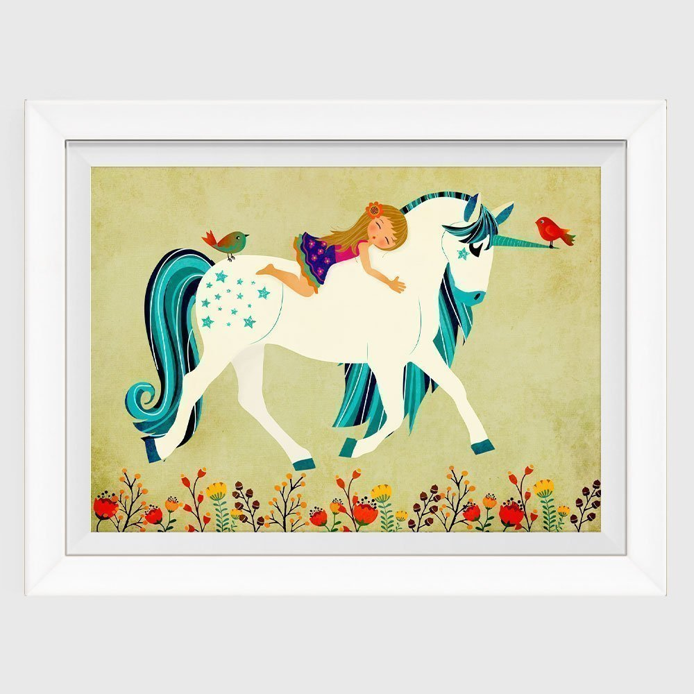 Amazon.com: Unicorn Print Childrens Nursery Wall Art Nursery Decor ...
