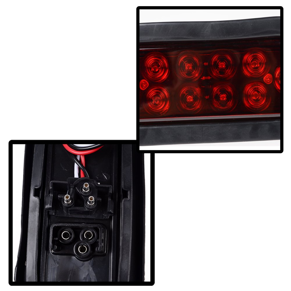1 Pair Red 6 Oval Led 10 Diode Tail Light W Grommet Also Trailer Lights Along With Wiring Plug Truck Sealed Automotive