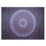 YAMUDA Wall Hanging Cloth Classical Mandala Tapestry Yoga Mat Wall Hanging DIY Decoration For Girls Apartment Bedroom Living Room Table Couch Cover Summer Beach Towel Bohemian Tapestry (Dark Purple)