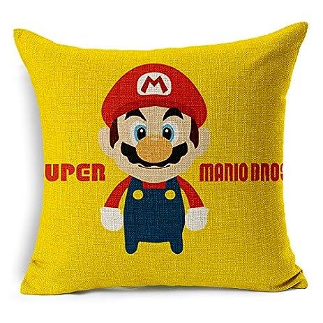 Chicozy Super Mario Luigi Mushroom Corpse Flower Pillow Covers Car Bed Sofa Cushion Cover Throw pillow